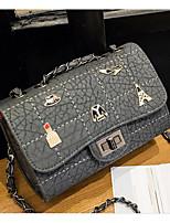 Women Bags PU Crossbody Bag Zipper for Casual All Seasons Black Light Grey
