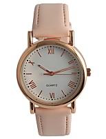 Women's Fashion Watch Wrist watch Japanese Quartz PU Band Pink