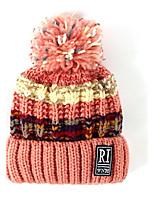 Women's Knitwear Sweater Ski Hat,Hat Striped Pattern Color Block Winter Knitting