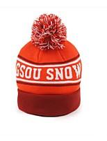 Ski Hat Ski Skull Cap Beanie Kid's Windproof Snowboard Cotton Tactel Letter & Number Ski & Snowboard Winter Sports Winter