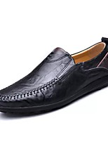Men's Shoes PU Spring Fall Moccasin Loafers & Slip-Ons For Casual Dark Brown Light Brown Black
