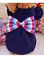Cane Gilè Abbigliamento per cani Casual Fiocco Blu scuro Rosso