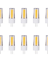 10pcs 3W G4 LED Bi-pin Lights 1 leds COB Warm White Cold White 230lm 6500/3500K AC 220-240V