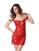 Women's Lace Lingerie Nightwear,Sexy Floral-Thin Polyester