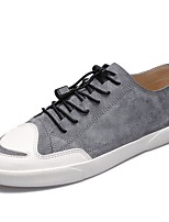 Men's Shoes Pigskin Spring Fall Comfort Sneakers For Casual Brown Gray Black