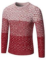 Standard Pullover Da uomo-Per uscire Casual Semplice Punk & Gotico Stoffe orientali Monocolore Rotonda Manica lunga Cotone Rayon Autunno