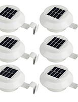 6 unids al aire libre con energía solar 3 leds luz jardín valla de la yarda de la pared canal de la lámpara