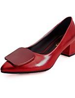 Damen Schuhe PU Frühling Sommer Pumps High Heels Für Normal Kleid Schwarz Armeegrün Rot Champagner