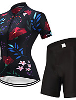 FUALRNY® Cycling Jersey with Shorts Women's Short Sleeves Bike Clothing Suits Fast Dry Quick Dry High Elasticity LYCRA® Summer
