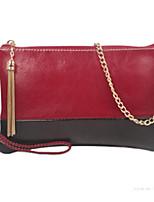 Women Bags All Seasons Cowhide Clutch Zipper for Casual Yellow Dark Blue Red