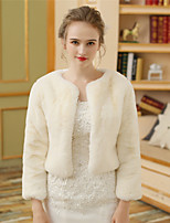 Faux Fur Wedding Party/ Evening Women's Wrap With Fur Shrugs