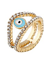 Men's Rhinestone Punk Alloy Round Evil Eye Jewelry For Gift Daily