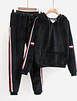 Pantalone Completi abbigliamento Da donna Per uscire Casual Semplice Romantico Attivo Primavera Autunno,Tinta unita A strisce Manica lunga