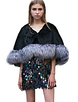 Women's Faux Fur Fur Rectangle Infinity Scarf Solid Fall Winter