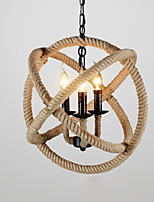 Rustic/Lodge Artistic Pendant Light For Bedroom Dining Room Indoor 220V 110VV Bulb Not Included