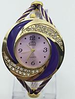 Women's Fashion Watch Bracelet Watch Chinese Quartz Metal Band Bangle Purple