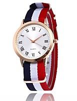 Mulheres Relógio de Pulso Relógio de Moda Quartzo Náilon Banda
