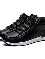 Men's Shoes PU Leatherette Spring Fall Comfort Sneakers Lace-up For Casual Red Brown Black