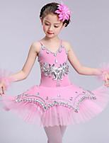 devons-nous ballet robes enfants performance spandex sans manches robes hautes