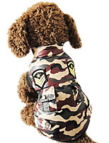 Dog Vest Dog Clothes Casual/Daily Geometic Camouflage Color Costume For Pets