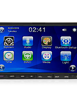 rungrace 7''touch screen 2din sistema multimedia del coche deslizable con dvd / radio / bluetooth / volante contol rl-206dnn07