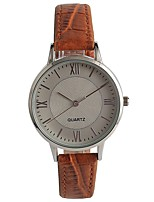 Women's Fashion Watch Wrist watch Japanese Quartz PU Band Brown
