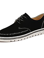 Men's Shoes Nappa Leather Spring Fall Comfort Sneakers Lace-up For Outdoor Khaki Gray Black