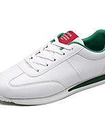 Men's Shoes PU Spring Fall Comfort Sneakers Lace-up For Casual White Red Black/White White/Green
