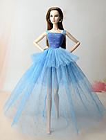 Vestidos Vestidos Para Boneca Barbie Vestido Para Menina de Boneca de Brinquedo