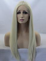 Недорогие -Парики из искусственных волос Жен. Прямой Блондинка Искусственные волосы Прямой пробор Блондинка Парик Длинные Лента спереди Блондинка