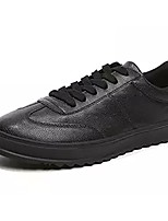 Men's Shoes Rubber Fall Comfort Sneakers Lace-up For Outdoor Black/White Black White