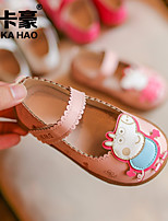 Girls' Shoes PU Spring Fall Comfort Loafers & Slip-Ons For Casual Blushing Pink Fuchsia White