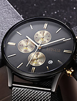 Men's Dress Watch Fashion Watch Wrist watch Japanese Quartz Calendar Stainless Steel Band Luxury Elegant Cool Black Silver Rose Gold