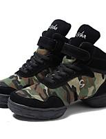 Women's Dance Sneakers Canvas Split Sole Outdoor Customized Heel Army Green Customizable