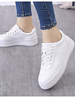 Women's Shoes PU Spring Comfort Sneakers Flat Heel For Casual White