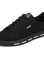 Для мужчин обувь Полиуретан Весна Осень Удобная обувь Кеды Назначение Повседневные Черный Серый Красный