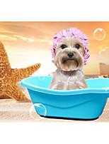 Dog Cleaning Baths Bathroom Sink Green Blue Pink