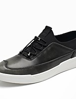 Men's Shoes Real Leather Fall Winter Comfort Sneakers For Casual Outdoor Gray Brown Burgundy