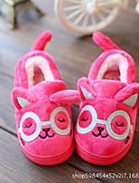 Girls' Shoes Flocking Winter Fur Lining Slippers & Flip-Flops For Casual Blue Fuchsia Black