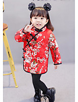 Girl's Floral Dress Fall Winter
