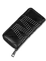 Women Bags All Seasons PU Wallet Zipper for Shopping Casual Black