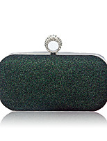 Women Bags All Seasons PU Evening Bag with Sequins for Wedding Event/Party Dark Green Blushing Pink Red Silver Champagne