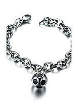 Men's Women's Chain Bracelet Punk Rock Titanium Steel Round Jewelry For Party Gift