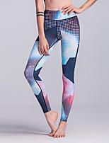 Women's Medium Stitching Print Legging,Color Block