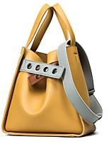 Damen Taschen Ganzjährig PU Tragetasche Taschen für Schwarz Rosa Gelb
