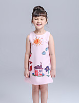 Girl's Casual/Daily Cartoon Dress,Polyester Fall Sleeveless