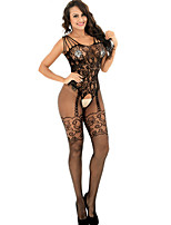 Women's Suits NightwearSexy Jacquard-Thin Polyester Spandex