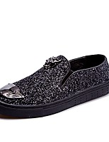 Men's Shoes PU Spring Fall Comfort Loafers & Slip-Ons For Casual Blue Silver Black