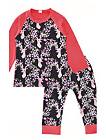 Baby Girls Indoor Outdoor Daily Print Clothing Set