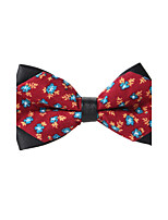 Men's Polyester Cotton Blend Bow Tie,Pattern Print All Seasons